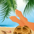 Relax on the beach — Stock Vector