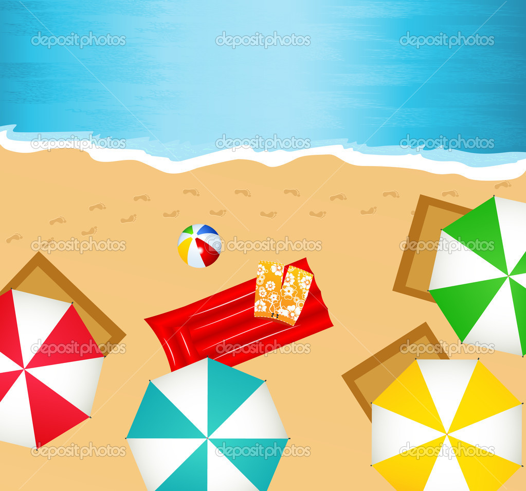 Beach, vector illustration — Stock Vector #2770670