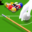 Stock Vector: Billiard game