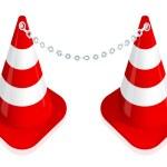 Traffic cone — Stock Vector