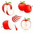Red apple pieces — Stock Vector #2900644