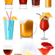 Stock Vector: Drink collection