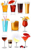 Drink collection — Stock Vector