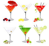Martini glass collection — Stock Vector