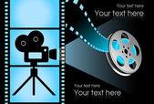 Black cinema background — Stock Vector