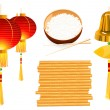 Chinese objects — Vector de stock