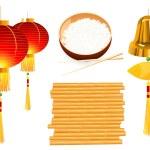 objetos chineses — Vetorial Stock