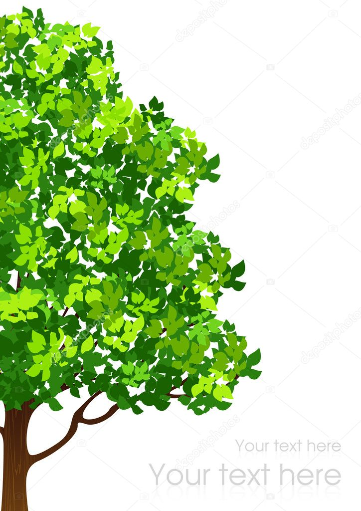 Tree background, vector illustration — Stock Vector #3005410