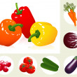Vegetable set — Stock Vector