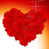 Bouquet de coeur — Vecteur