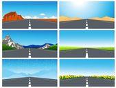 Road set — Stock Vector