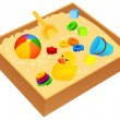 Stock Vector: Sandbox