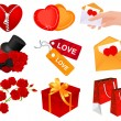 Stock Vector: Heart icons
