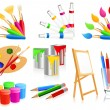 Royalty-Free Stock Vector Image: Painting icons
