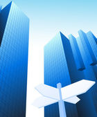 Moderne stadt — Stockvektor