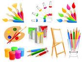 ícones de pintura — Vetorial Stock
