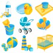 Royalty-Free Stock Vektorgrafik: Baby icons