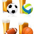 Beer and sports — Stock Vector #3218091