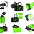 Green photo icons - Stock Vector