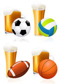 Beer and sports — Stock Vector