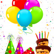 Birthday elements — Vector de stock #3242237
