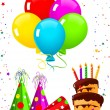 Vector de stock : Birthday elements