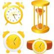 Clock collection — Stock Vector