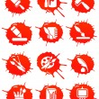 Stock Vector: Blot icons