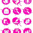 Pink icons — Stockvectorbeeld