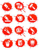 Blot icons — Stock Vector