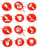 Blot icons — Stock Vector