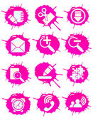 Pink icons — Stockvector