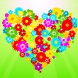 Flower heart — Vector de stock
