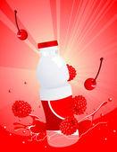 Forest berry juice bottle — Stock Vector