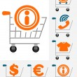 Shopping chart icon set — Image vectorielle
