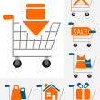 Shopping chart icons — Stock Vector