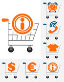 Shopping chart icon set — Stock Vector