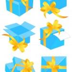 Present boxes — Stock Vector
