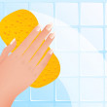 Wiping hand — Stock Vector