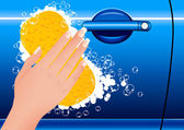 Myjnia samochodowa — Wektor stockowy