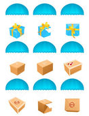 Flying parcels — Stock Vector