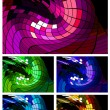 Abstract disco background different colors — Stock Vector