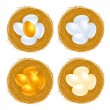 Royalty-Free Stock Vectorielle: Golden eggs