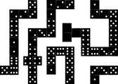 Domino seamless background — Stock Vector