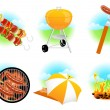 Stock Vector: Barbeque icons