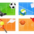Stock Vector: Sport backgrounds