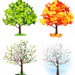 Four season trees — Vetorial Stock #3609485
