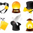 Conjurer icons — Stock Vector
