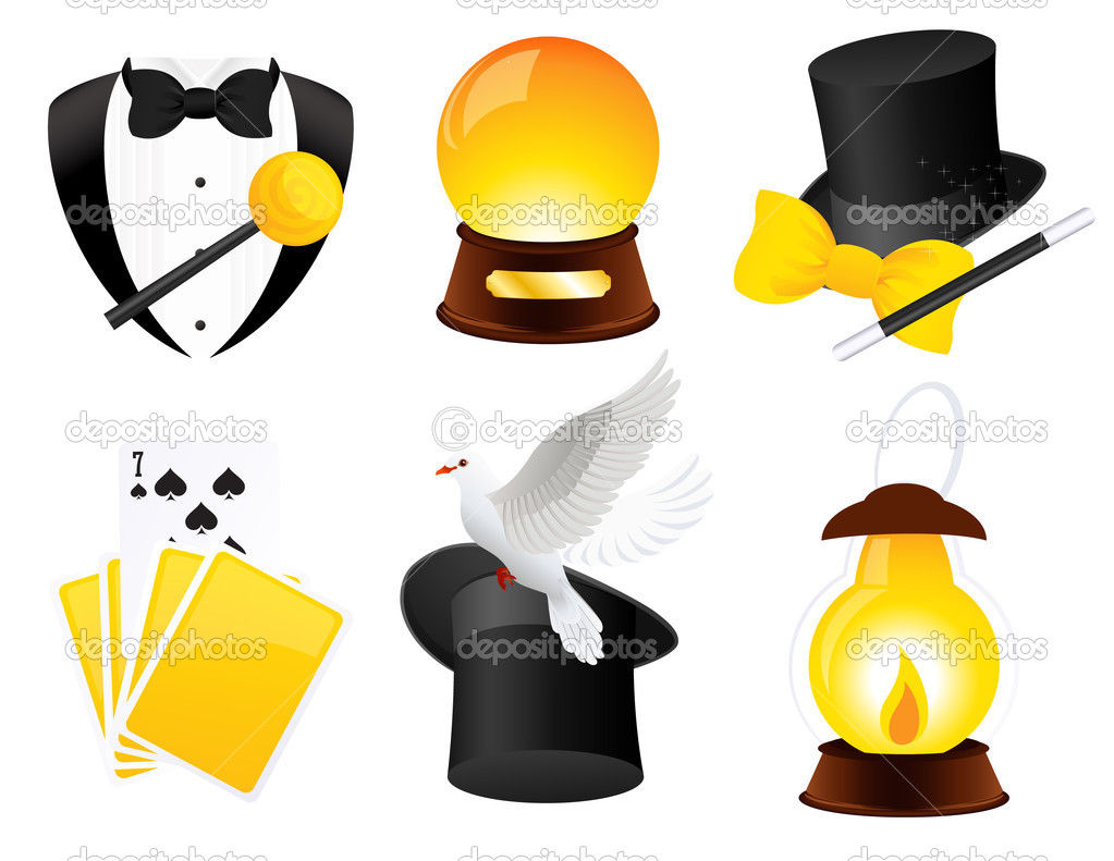 Conjurer icons, vector illustration — Stock Vector #3632129