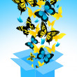Flying out butterflies — Stock Vector